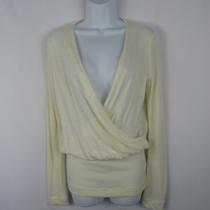 James Perse Soft Crossed over size 2 Top